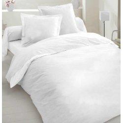 Белое однотонное постельное бельё ранфорс люкс Moon Love G03 white