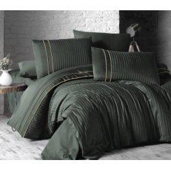 Постельное бельё First Choice сатин DeLux евро Stripe Style Dark Green