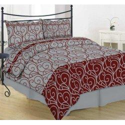 Фланелевое постельное белье 40-0998 red