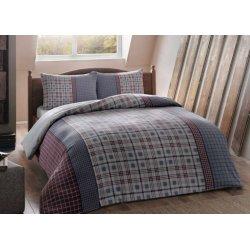 Фланелевое постельное бельё TAC Grey mavi