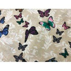 Фланелевое постельное белье Махаон на бежевом