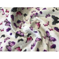 Фланелевое постельное белье Бабочки фиолетовые