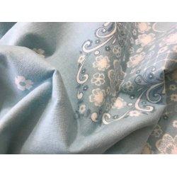 Фланелевое постельное белье Вензель на голубом