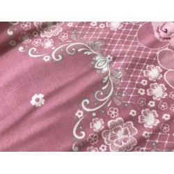 Фланелевое постельное белье Вензель на розовом