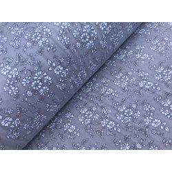 Фланелевое постельное белье Маргаритка серая
