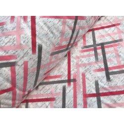 Фланелевое постельное белье Полоски розовые