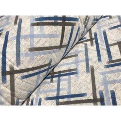 Фланелевое постельное белье Полоски синие