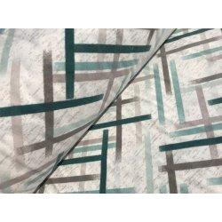 Фланелевое постельное белье Полоски зелёные