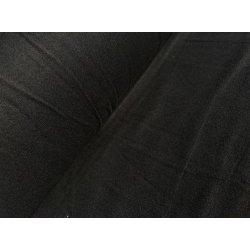 Фланелевое постельное белье однотонное Чёрное
