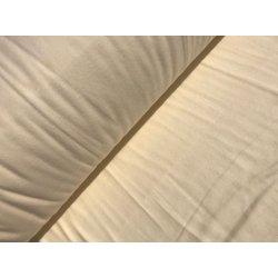 Фланелевое постельное белье однотонное Кремовое