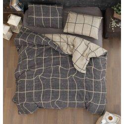 Фланелевое постельное белье First Choice Adonis Brown евро