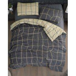 Фланелевое постельное белье First Choice Adonis Grey евро