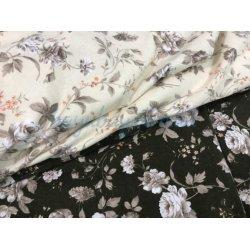 Фланелевое постельное белье Розы комбинированное
