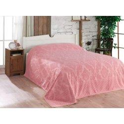 Простынь махровая Gulcan pink 190х220