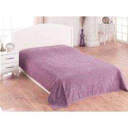 Простынь махровая Gulcan purple 190х220