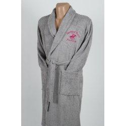 Халат махровый Beverly Hills Polo Club 355BHP1706 grey серый