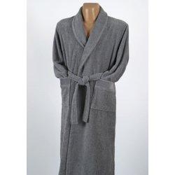 Мужской махровый халат Penelope Prina grey антрацит