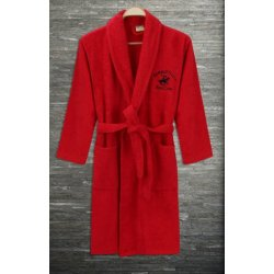 Халат махровый Beverly Hills Polo Club 355BHP1711 red красный