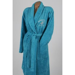 Халат махровый Beverly Hills Polo Club 355BHP1712 turquoise бирюзовый
