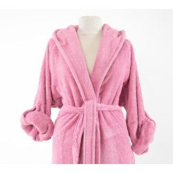 Женский махровый халат Irya Classis coresoft pembe розовый