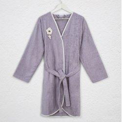 Женский махровый халат Irya Lona lila лиловый