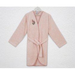 Женский махровый халат Irya Rina pembe розовый