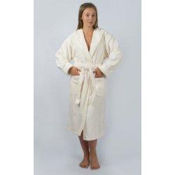 Женский махровый халат Irya Tender ekru молочный