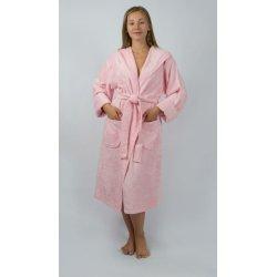 Женский махровый халат Irya Tender pembe розовый