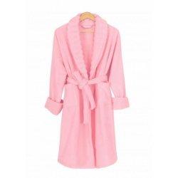 Женский махровый халат Irya Waves pembe розовый