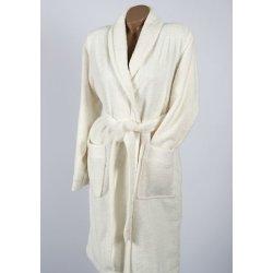Женский махровый халат Penelope Prina ecru молочный