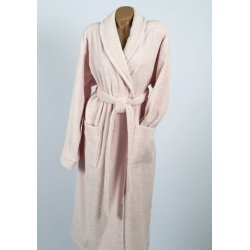 Женский махровый халат Penelope Prina pink розовый