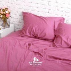 Постельное белье Хлопковые традиции сатин SE011 розовое однотонное