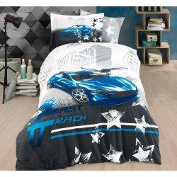 Детское постельное белье Hobby Fast Track синий