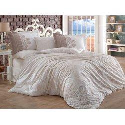 Фланелевое постельное бельё Irene бежевое