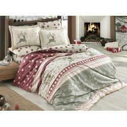 Фланелевое постельное бельё Ludovica бордовое