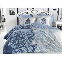 Фланелевое постельное бельё Mirella синее