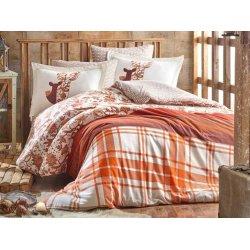 Фланелевое постельное бельё Valentina коричневое