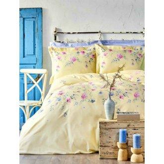 Постельное бельё евро Karaca Home Lupines sari