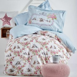 Подростковое постельное белье Karaca Home Paise blue