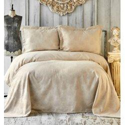 Покрывало с наволочками Karaca Home Eldora gold золотое 250*240