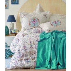 Летнее постельное бельё пике Karaca Home Malia Turkuaz