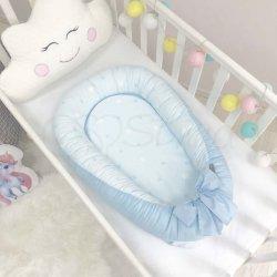 Кокон Msonya Baby Design Звезды на голубом