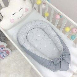 Кокон Маленькая Соня Baby Design Звезды на сером