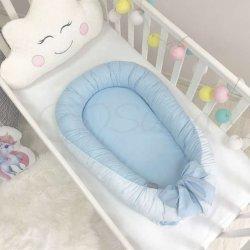 Кокон Маленькая Соня Baby Design Звезды на голубом