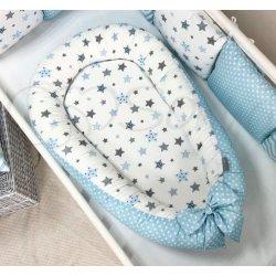 Кокон Msonya Baby Design Premium Stars серо-голубой