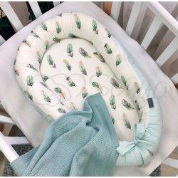 Кокон Маленькая Соня Baby Design Перо мята
