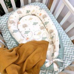 Кокон Msonya Baby Design Premium Радуги