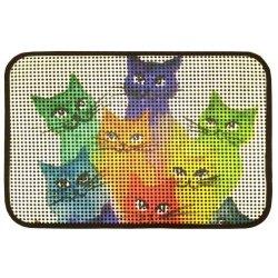 Коврик для котов IzziHome Catsline Renkli Kediler 40x60