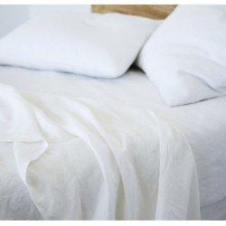 Детское постельное белье LinTex Лён белый в кроватку