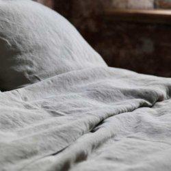Детское постельное белье LinTex Лён серый в кроватку